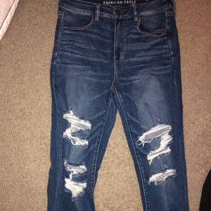 warn once ripped jeans